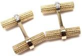 Tiffany & Co. 18K Yellow Gold Diamond Cufflinks