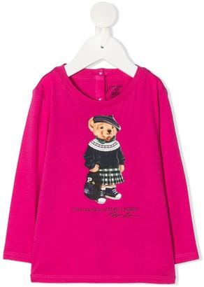 Ralph Lauren Kids Polo Bear long sleeved T-shirt