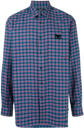 Zzero By Songzio Panther check patch pocket shirt