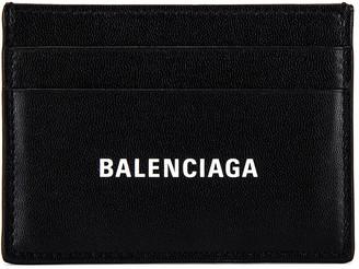 Balenciaga Cash Card Holder in White & Black   FWRD