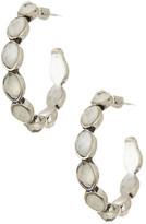 Lucky Brand Iridescent Stone Hoop Earrings