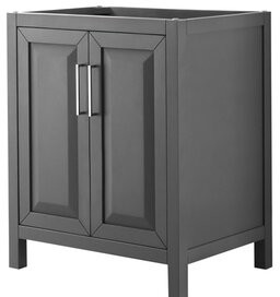 "Wyndham Collection Daria 29"" Single Bathroom Vanity Base Only Wyndham Collection Base Finish: Dark Gray"