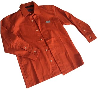 Saint Laurent Orange Cotton Tops