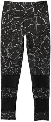 Z By Zella Girl Printed Mesh Banded Leggings (Little Girls & Big Girls)