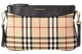 Burberry Peyton Horseferry Check & Leather Clutch.