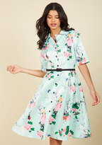 Respectfully Retro Midi Dress in Mint Blossom in 2X
