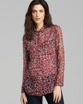 Equipment Blouse - Slim Signature Lavish Leopard Print Silk