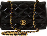One Kings Lane Vintage 1990s Chanel Black Patent Leather Bag