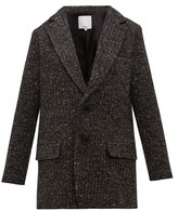 Tibi Single-breasted Tweed Blazer - Womens - Dark Grey