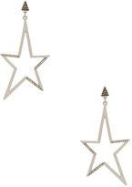 Rebecca Minkoff Stargazing Star Earring in Metallic Silver.