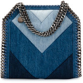 Stella McCartney Patchwork Mini Denim Tote Bag, Blue