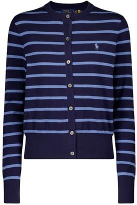 Polo Ralph Lauren Striped cotton-blend cardigan