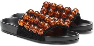 Jil Sander Beaded leather slides