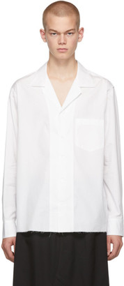 Sulvam White Open Collar Shirt