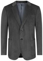 Armani Collezioni Grey Velvet Blazer