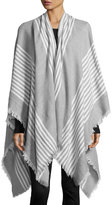 Raj Thin Striped Ruana Wrap