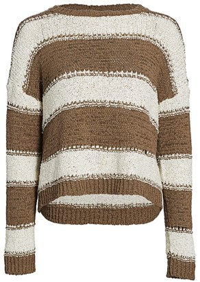 Fabiana Filippi Stripe Dropped Shoulder Sweater