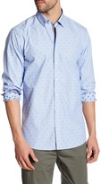 Lindbergh Diamond Striped Long Sleeve Regular Fit Shirt