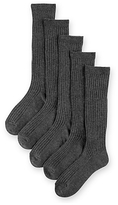 Marks and Spencer 5 Pairs of FreshfeetTM Cotton Rich Long Ribbed School Socks (5-14 Years)