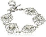 "Carolee The Cloisters"" The Cloisters Clear Crystal Flex Bracelet, 7.5"""