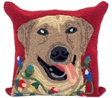 "Liora Manné Frontporch Happy Holidays Dog Pillow Red - (18""x18"") Square"