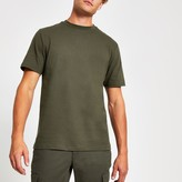 Mens River Island Khaki crew neck short sleeve T-shirt