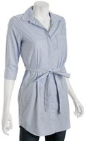 blue striped cotton 'Christine' belted tunic