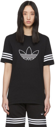 adidas Black Outline Trefoil T-Shirt