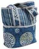 Hoohobbers Tote Diaper Bag, Blue Medallion