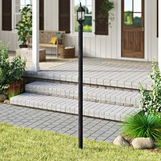 """Breakwater Bay Frederica Direct Burial 84"""" Lamp Post Finish / Photocell / Outlet: Rust / No / No"""