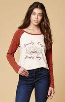 MinkPink Steady Rays Long Sleeve Raglan T-Shirt
