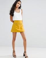Vero Moda A Line Skirt With Zip Detail