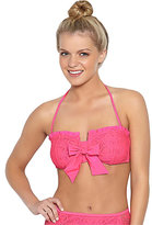 Betsey Johnson Love Lace Crochet Bandeau Top
