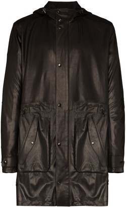 Ajmone Hooded Leather Parka