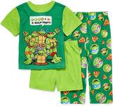 LICENSED PROPERTIES Boys 3-pc.Short Sleeve Teenage Mutant Ninja Turtles Kids Pajama Set-Toddler