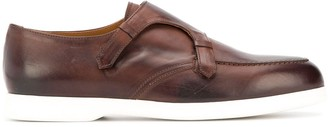 Doucal's Burnished-Effect Monk Shoes