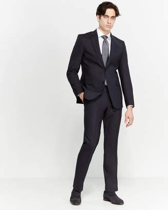 Versace Two-Piece Navy Pinstripe Suit