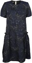 Rochas Floral Jacquard Shirt Dress