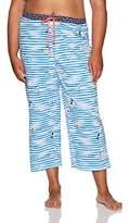 Hue Women's Plus Size Fashion Print Comfort Fit Capri Pajama Pant