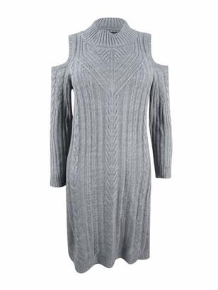 Jessica Howard JessicaHoward Women's Cold Shoulder Cable Knit Dress