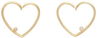 Yvonne Léon Gold Broken Heart Earrings