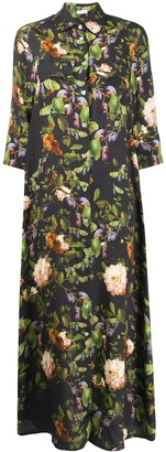 813 Floral-Print Shirt Dress