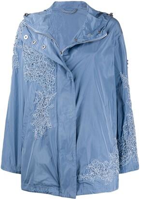 Ermanno Scervino Lace Detailed Raincoat