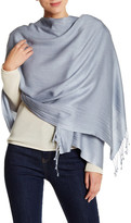Saachi Fringed Cashmere & Silk Blend Wrap