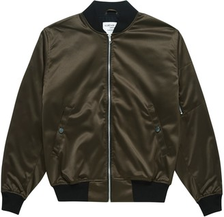 Alistair Grey Charcoal Satin Bomber