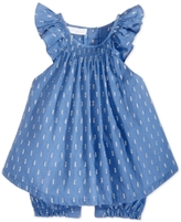 First Impressions Metallic-Print Cotton Romper, Baby Girls (0-24 months), Created for Macy's