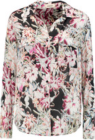 L'Agence Margaret printed silk crepe de chine blouse