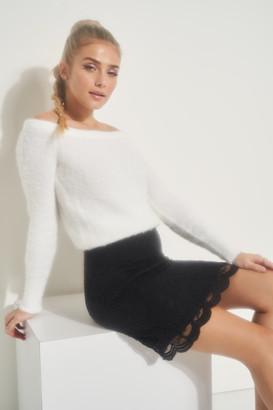 Ardene Scalloped Lace Mini Skirt