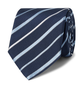 HUGO BOSS 6.5cm Striped Silk Tie