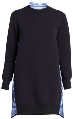 Sacai Pinstripe Back Sweaterdress
